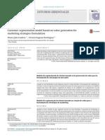 Customer segmentation model based on value generation for marketing strategies formulation