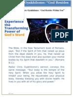 Pastor Chris Oyakhilome - God Resides Within You