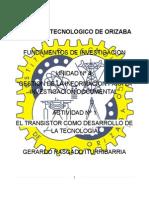 Rasgado Iturribarria Gerardo - EL TRANSISTOR COMO DESARROLLO DE LA TECNOLIGÍA
