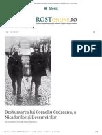 Deshumarea Lui Corneliu Codreanu, A Nicadorilor Și Decemvirilor _ Rost Online
