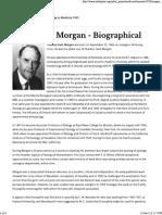 Thomas H. Morgan - Biographical