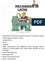 Feed Mechanism in Lathe