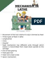 Feed Mechanism in Lathe