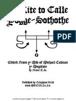 Ye Rite to Calle Yogge-Sothothe