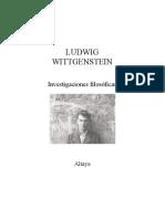 Wit Gen Stein, Ludwig - Investigaciones Filosoficas