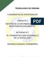 Rasgado Iturribarria Gerardo - EL TRANSISTOR COMO DESARROLLO DE LA TECNOLOGÍA
