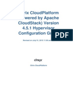 CloudPlatform Powered by Apache CloudStack Version 4.5.1 Hypervisor Configuration Guide