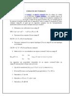 Álgrebra Lineal - espacios vectoriales