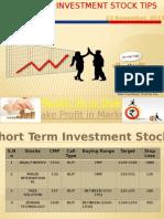 Short Term Investment Pick November 2015