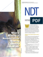 What is Missing in Non Destructive Tes
