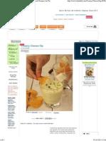 Creamy Cheese Dip Recipe _ Indian Microwave Snack Recipes _ by Tarla Dalal _ Tarladalal.com _ #4930