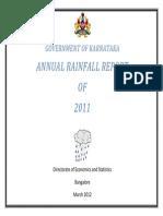 Karnataka ANNUAL Rainfall 2011