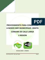 Procedimiento Para Conectarse a Nodos Wifi Municipales Gratis