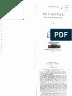 K Marx 1867 El Capital Crítica a La Economía Política Fondo de Cultura Económica México 1971 Cap1 y 6