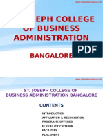 St. Joseph College of Business Administration Bangalore|SJCBA