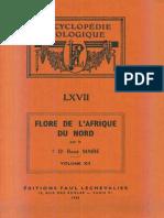 Flore de l'Afrique Du Nord (Maroc, Algérie, Tunisie, Tripolitaine, Cyrénaïque Et Sahara), Vol. 12, R. Maire (1965)