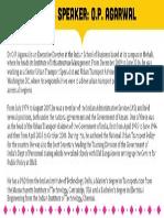 OP Agarwal - Speaker Profile