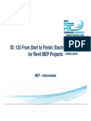 S14 From Start to Finish Electrical How - To for Revit MEP