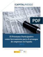 El Préstamo Participativo Como Herramienta Para El Arranque de Empresas en España. 2015