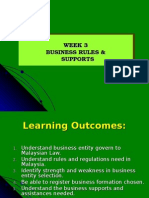 Week 3 Business Rules Supports