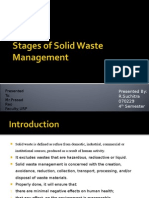 Stages of Solid Waste Management
