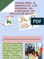 ESTRATEGIAS PARAELFINANCIAMIENTO DE LOS   PROGRAMAS NO ESCOLARIZADOS EN.pptx