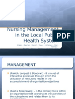 Nursing Management in the Local Public Health System