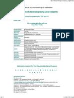 Preparation of Chromatography Spray Reagents