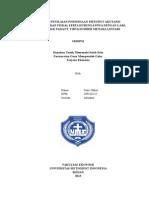 Analisis Penilaian Persediaan Menurut Akutansi Komersial Dan Fiskal Serta Hubungannya Dengan Laba Kena Pajak Pada Pt