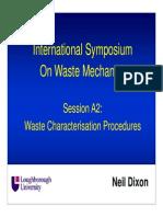 Waste Characterisation Procedures