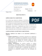 quimica analitica clasificacion