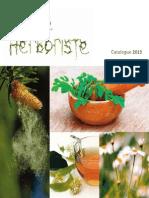 Catalogue La Petite Herboriste