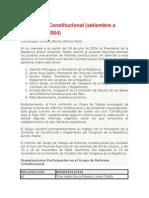 Acuerdo Nacional Marco Legal y Avances y Retrocesos