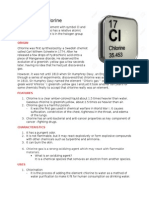 Chemical Element Chlorine (Cl)