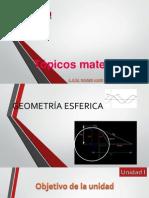 geometria esferica y sus caracteristicas