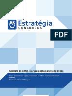 Aula Extra 1 - Exemplo de Edital de Pregão de Registro de Preço Da Unesp