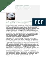 La Traducción Del Español Jurídico y Económico