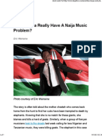 Does Kenya Really Have a Naija Music Problem