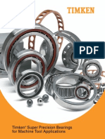 Super Precision Bearings for Machine Tool Applications Catalog