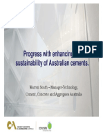 Sustainability of Australian CementsSOUTH