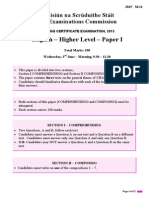Leaving Cert English Paper 1 2015