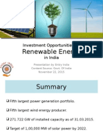 Investment Opportunities in Renewable Energy in India