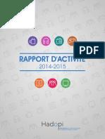 Rapport annuel Hadopi
