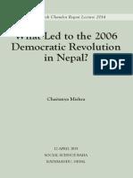 What Led to Democratic Revolution of Nepal- Chaitanya Mishra