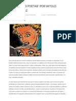 """""""Contra Los Poetas"""" Por Witold Gombrowicz"""