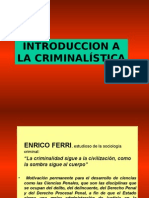 Introduccion a La Criminalistica 1