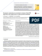Parameter estimation via stochastic variants of the ECM algorithm with applications to plant growth modeling