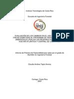 EVALUACIÓN DE LOS CAMBIOS EN EL USO DEL SUELO EN FINCAS SOMETIDAS AL PROGRAMA DE PAGO POR SERVICIOS AMBIENTALES (PSA) EN LAS REGIONES HUETAR NORTE, HUETAR ATLÁNTICA Y CENTRAL DE COSTA RICA