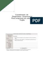 Cuestionario Diagnostico - EMPRESAS CALZADO