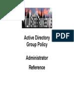 Active Directory GP Admin Ref